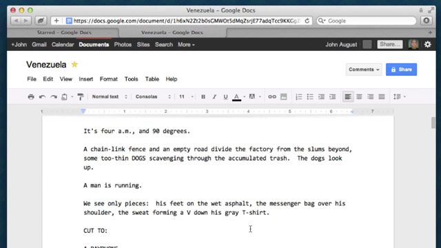 Screencast: From Google Docs to Final Draft